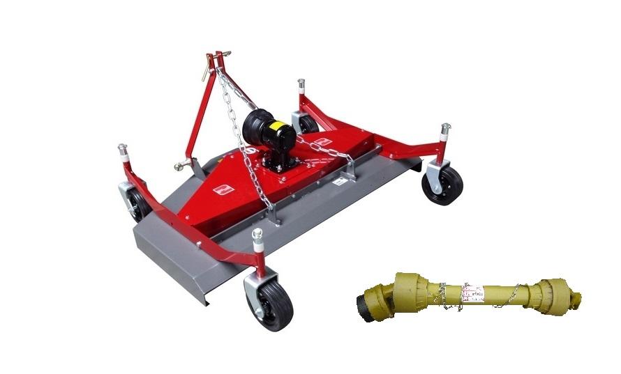 Tondeuse Morgnieux TA 1500 EA pour tracteur, éjection arrière
