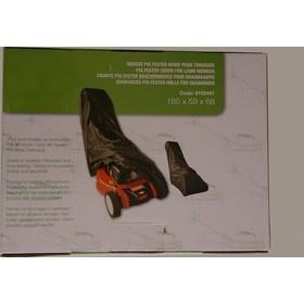 Bâche housse spéciale pour tondeuse à gazon en polyester noir 185 x 59 x 68cm