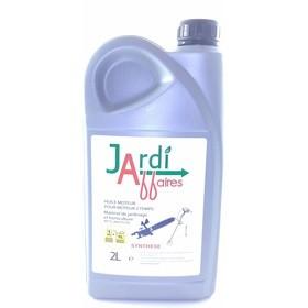 Bidon 2 litres d'huile professionnelle 2 temps semi-synthèse