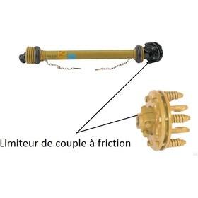 Cardan avec limiteur de couple à friction, longueur 130cm