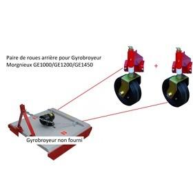 Paire de roues arrière pour Gyrobroyeur Morgnieux de la série GE