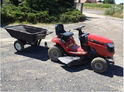 Tracteur tondeuse jonsered remorque d 39 occasion destord - Tracteur tondeuse coupe frontale d occasion ...