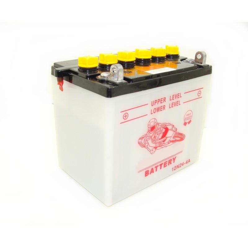 Batterie 12N24-4 A pour tracteur tondeuse autoportée livrée sans acide