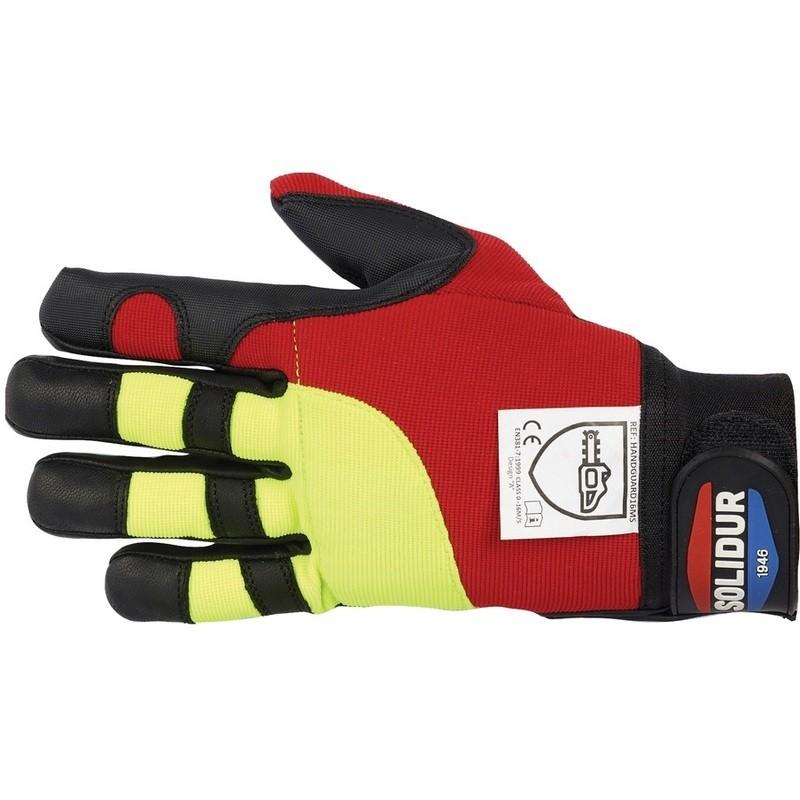 Paire de gants anti-coupure pour tronçonneuse Solidur Infinity