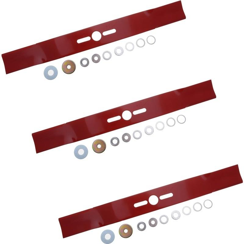 Jeu de 3 lames universelles pour autoportée coupe de 155/160cm (60 à 63 Pouces)