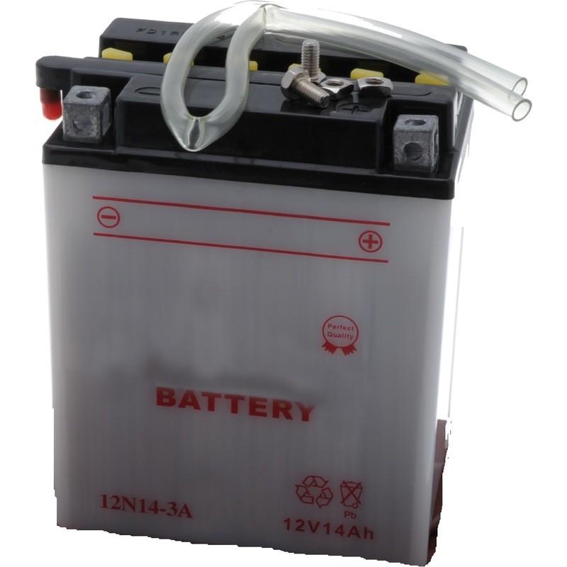 Batterie 12N14-3 A pour tondeuse autoportée, moto, moto neige prête à l'emploi