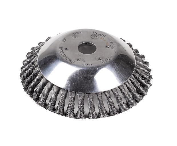 Tête de désherbage et démoussage pour débroussailleuse 200/230mm alésage 25.4mm